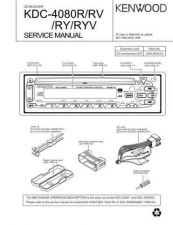 Buy KENWOOD KDC-4080R RV RY RYV Technical Info by download #151865