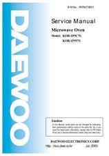 Buy Daewoo Model KOR-1B4H9S Manual by download #168638