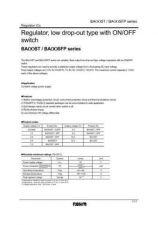 Buy INTEGRATED CIRCUIT DATA BA00ST BA00SFPJ Manual by download Mauritron #186556