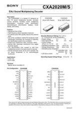 Buy MODEL CXA2020 Service Information by download #124025