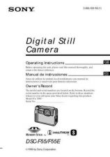 Buy SONY DSC-F55 OPERATING GUIDE by download #166735