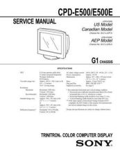 Buy SONY CPD-E500 CDC-1409 by download #159489