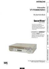 Buy Hitachi VTFX980ENAV SV Manual by download #171070