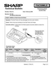 Buy Sharp FAX213 Technical Bulletin by download #138945