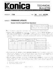 Buy Konica 08A FIRMWARE UPDATE Service Schematics by download #135922