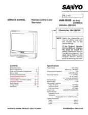 Buy Sanyo AVM1341S(SS5110238)Supplemen Manual by download #171241