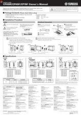 Buy Yamaha CP4SWE Operating Guide by download Mauritron #204453