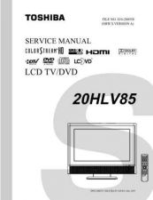 Buy TOSHIBA 20HLV85 SVM Service Manual by download #167352