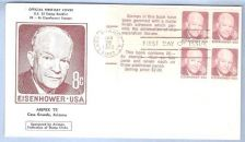 Buy AZ Casa Grande First Day Cover / Commemorative Cover Eisenhower~18