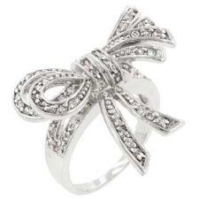 Buy Large Cz Bow Ring (size: 06)