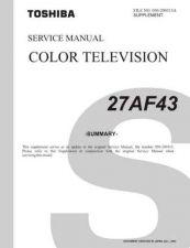 Buy TOSHIBA 27AF43 SUMMARYR1 Service Schematics by download #159804