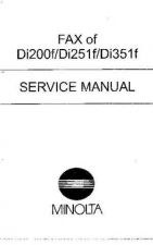 Buy Minolta FAX OF DI200F DI251F DI351F Service Schematics by download #137268