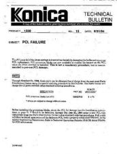 Buy Konica 13 PCL FAILURE Service Schematics by download #135983