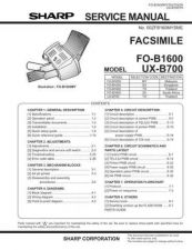 Buy Sharp 348 UXB700 FO-B1600 P1-50 Manual by download #178340