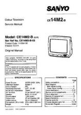 Buy Sanyo CE14M2-B-03 SM-Only Manual by download #172862