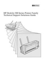 Buy HP DESKJET 300 SERIES TECHNICAL SUPPORT SOLUTIONS GUIDE by download #151252