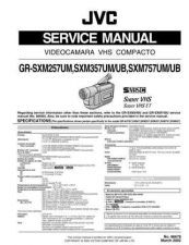 Buy JVC GR-SXM257-SXM357-SXM757 TECHNICAL DATA by download #130942