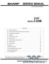 Buy Sharp 96 Z-87 SM Manual.pdf_page_1 by download #178926