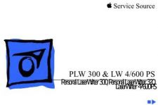 Buy APPLE PLW 300 320 & LW 4 600 PS Service Manual by download #149947