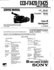 Buy SONY CCD-FX425 Service Manual by download #166351