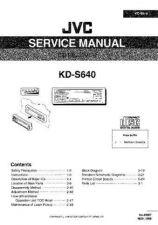 Buy JVC KD-S640 Service Schematics by download #156157