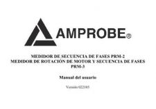 Buy Amprobe PRM1 Operating Guide User Instructions by download Mauritron #194471