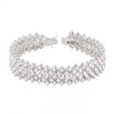 Buy Chevron Cz Tennis Bracelet
