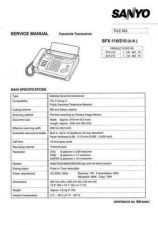 Buy Sanyo SFX-110 Manual by download #176322