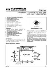 Buy MODEL TDA7360 Service Information by download #124796