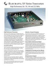 Buy ELECRAFT XV DATA SHEET 2004A WEB by download #120190