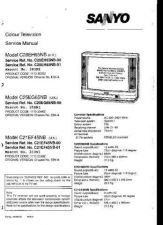 Buy SANYO 25DN1 COLOUR TV SERVICE MANUAL CDC-1409 by download #157387