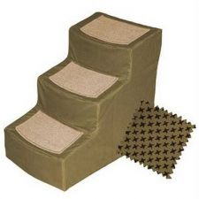 Buy Pet Gear Designer Stair III Pet Stairs with Removable Cover Tan