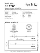Buy INFINITY RS 2000 TS Service Manual by download #151392