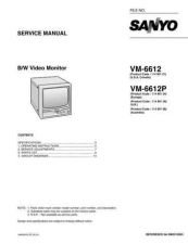 Buy Sanyo Service Manual For VM-6612P by download #176236