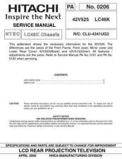 Buy Hitachi 42V525 Manual by download #170862