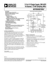 Buy INTEGRATED CIRCUIT DATA AD7859J Manual by download Mauritron #186344