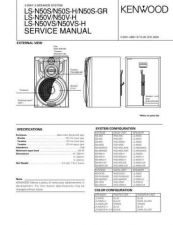 Buy KENWOOD LS-N50S N50S-H N50-S-GR N50V N50V-H N50VS N50VS-H Service Data by downl