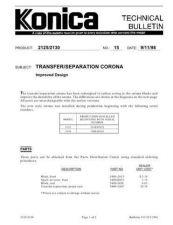 Buy Konica 15 TRANSFER SEPARATION CORO Service Schematics by download #136003