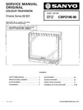 Buy SANYO CBP2146 COLOUR TV SERVICE MANUAL CDC-1409 by download #157399
