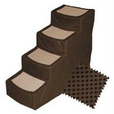 Buy Pet Gear Designer Stair IV Pet Stairs with Removable Cover Chocolate