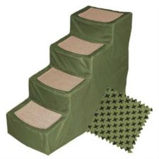 Buy Pet Gear Designer Stair IV Pet Stairs with Removable Cover Sage