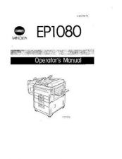 Buy Minolta EP1080 P6001 1080OPS Service Schematics by download #138055
