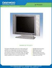 Buy DAEWOO DSL17DW SPECS Manual by download #184003