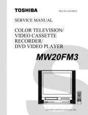 Buy TOSHIBA MW20FM3 SVCMAN Service Schematics by download #160293