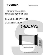 Buy TOSHIBA 14DLV45SVM Service Manual by download #167304