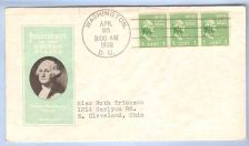 Buy DC Washington First Day Cover / Commemorative Cover George Washington~21