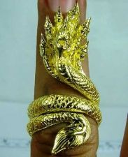 Buy Legendary Naga Serpent seven heads Thai Brass Ring Size FREE and Free shipping