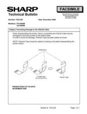Buy Sharp FAX250 Technical Bulletin by download #138981