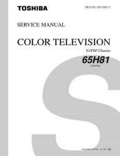 Buy TOSHIBA 65H81 Service Schematics by download #160079
