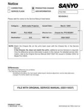 Buy Sanyo PLC-SW20-01 Manual by download #174825